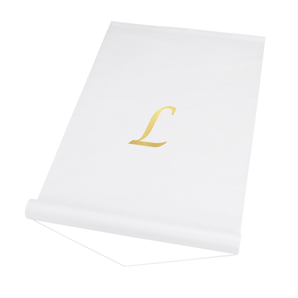 34 L 34 Personalized Wedding Aisle Runner White