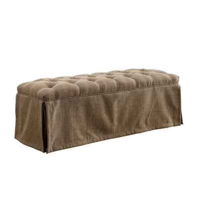 Iohomes Palmquist Transitional Button Tufted Bench - HOMES: Inside + Out