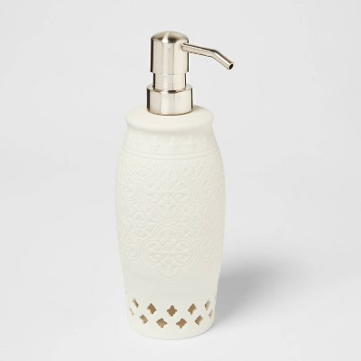 Mallorca Porcelain Cut Out Soap/Lotion Dispenser White - Opalhouse™