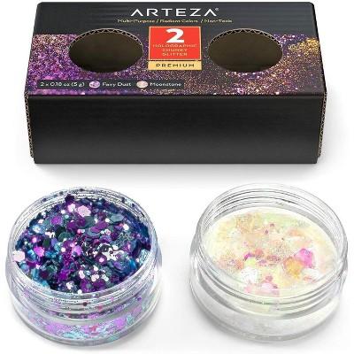 Arteza Glitter, Holographic, Shakers, Fairy Dust, Moonstone - Set of 2