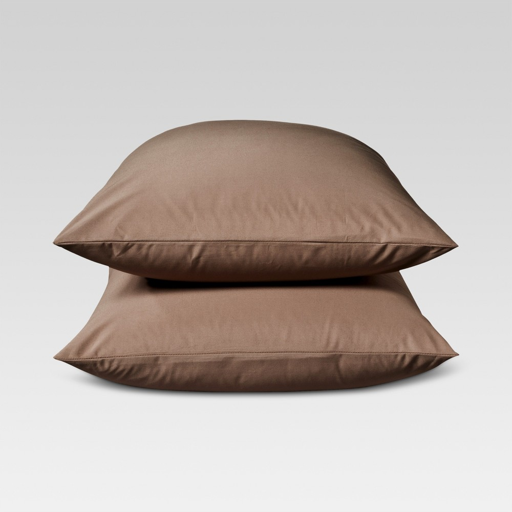 Ultra Soft Pillowcase Set (Standard) Brown 300 Thread Count - Threshold