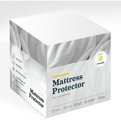 Glenwillow Home Premium Smooth Cooling Mattress Protector, Pack of 4