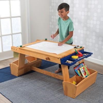 KidKraft® Art Table With Drying Rack U0026 Storage : Target
