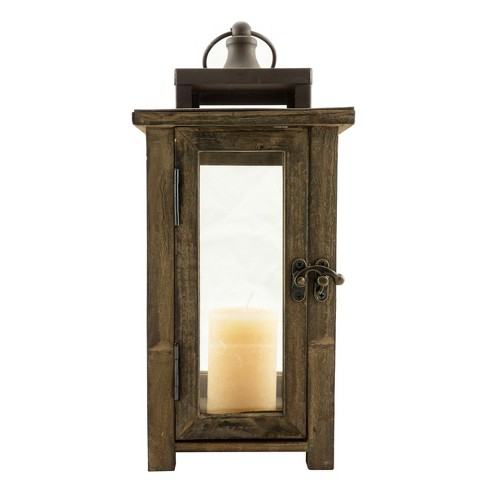 11 8 Rustic Wood Lantern Candle Holder Ckk Home Decor Target