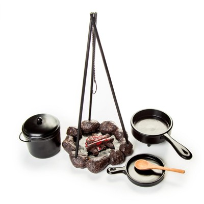 The Queen's Treasures Little House Cooking Set And Fire Pit For 18 In Dolls