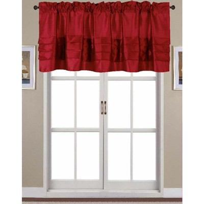 Ramallah Trading Nancy Faux Silk 54 x 18 in. Pleated Rod Pocket Curtain Valance