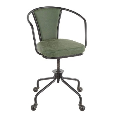 Oregon Industrial Upholstered Task Chair - LumiSource