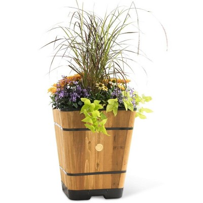 """VegTrug Tapered Square Planter, 20"""" - brown - VegTrug"""