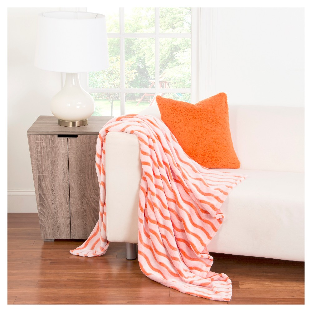 Crayola Fuzzy Orange Throw Blanket (50