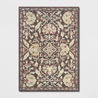5'x7' Chenille Tapestry Persian Floral Woven Area Rug Red - Threshold™