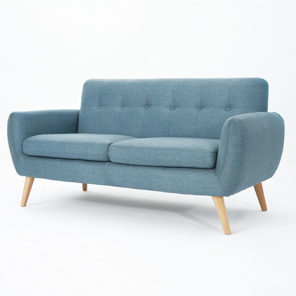Josephine Mid Century Modern Petite Sofa Blue - Christopher Knight Home