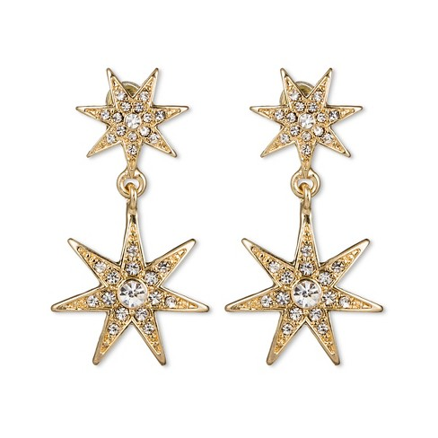 Sugarfix By Baublebar Star Drop Earrings Gold
