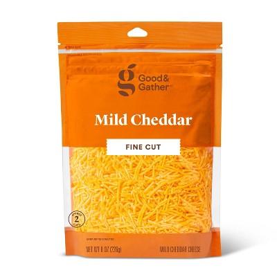 Finely Shredded Mild Cheddar Cheese - 8oz - Good & Gather™