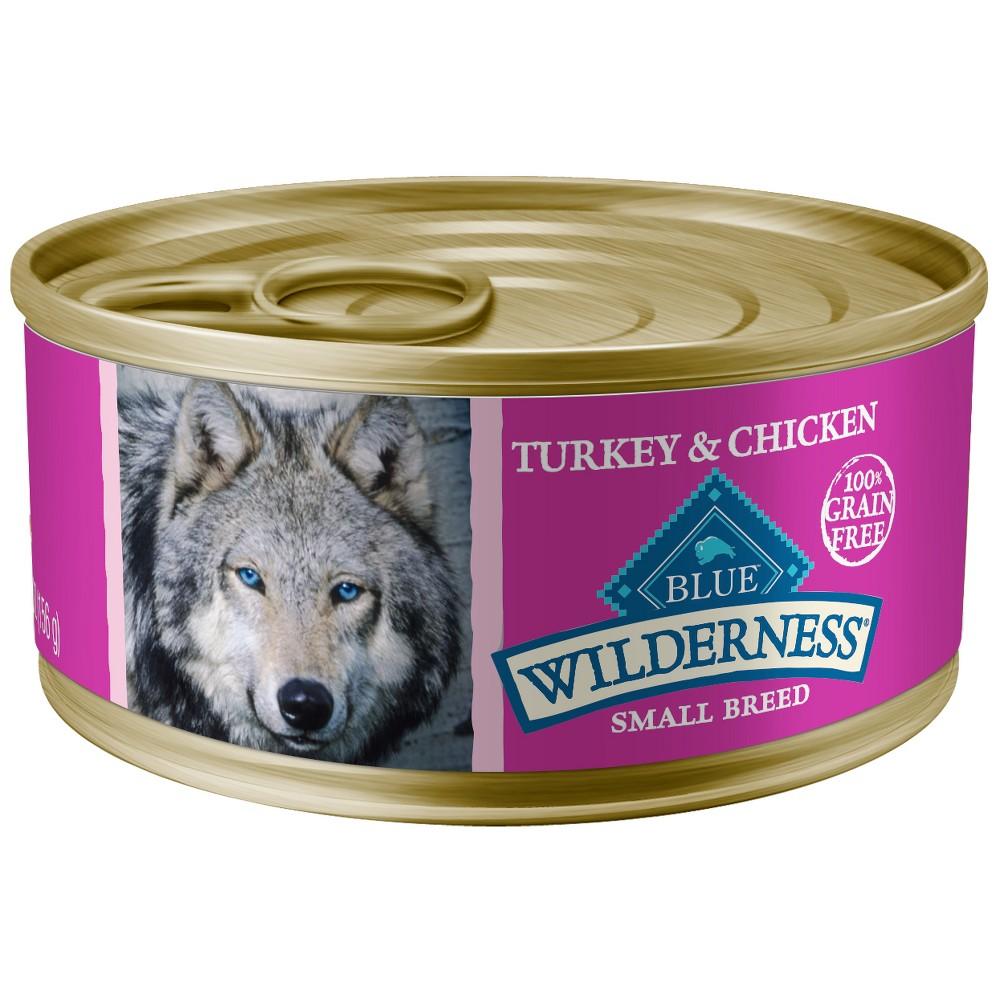 Blue Buffalo Wilderness 100% Grain-Free Turkey & Chicken Grill Small Breed Wet Dog Food - 5.5oz