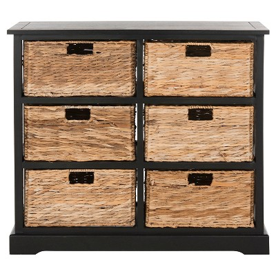 Keenan 6 Wicker Basket Storage Chest   Safavieh® : Target