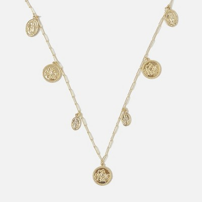 Sanctuary Project Multi Coin Charm Necklace Gold