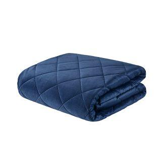 60u0022x70u0022 12lb Luxury Mink Weighted Blanket Indigo - Beautyrest