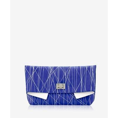 GiGi New York Blue Claire Clutch Bag