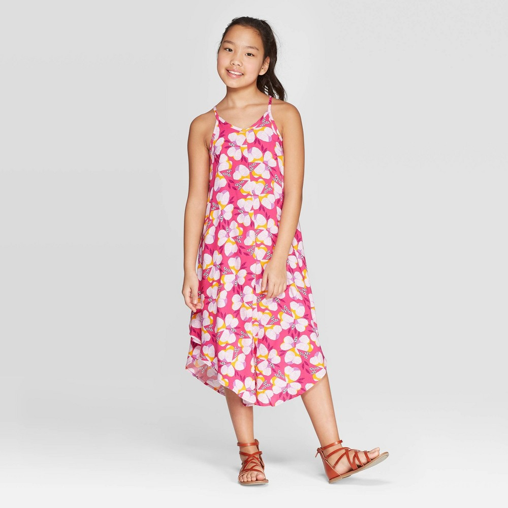 0250f53dbd Plus Size Girls Woven Maxi Dress Cat Jack Magenta M Plus Pink