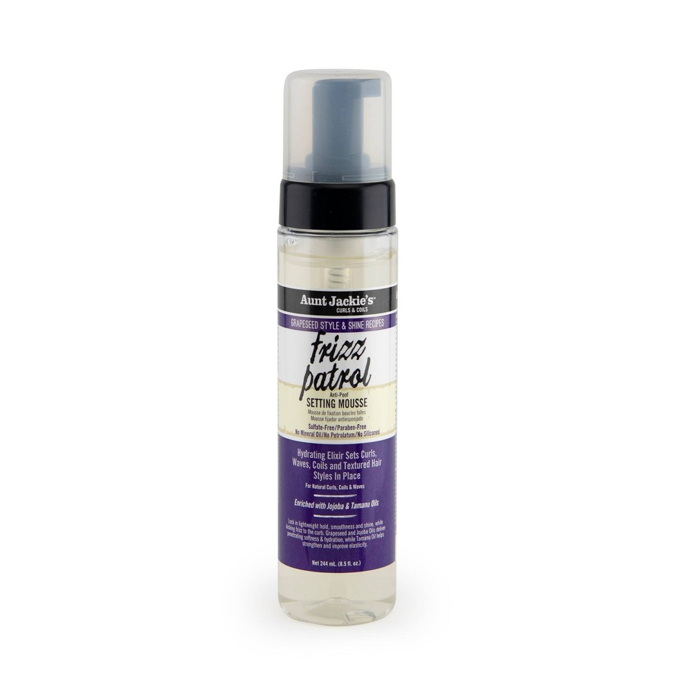 Image of Aunt Jackie's Grape Seed Frizz Patrol Setting Mousse - 6oz