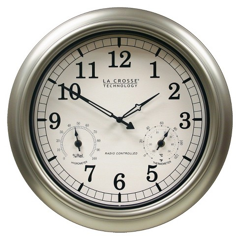 "La Crosse Technology 18"" IN/OUT Temp Clock - image 1 of 3"