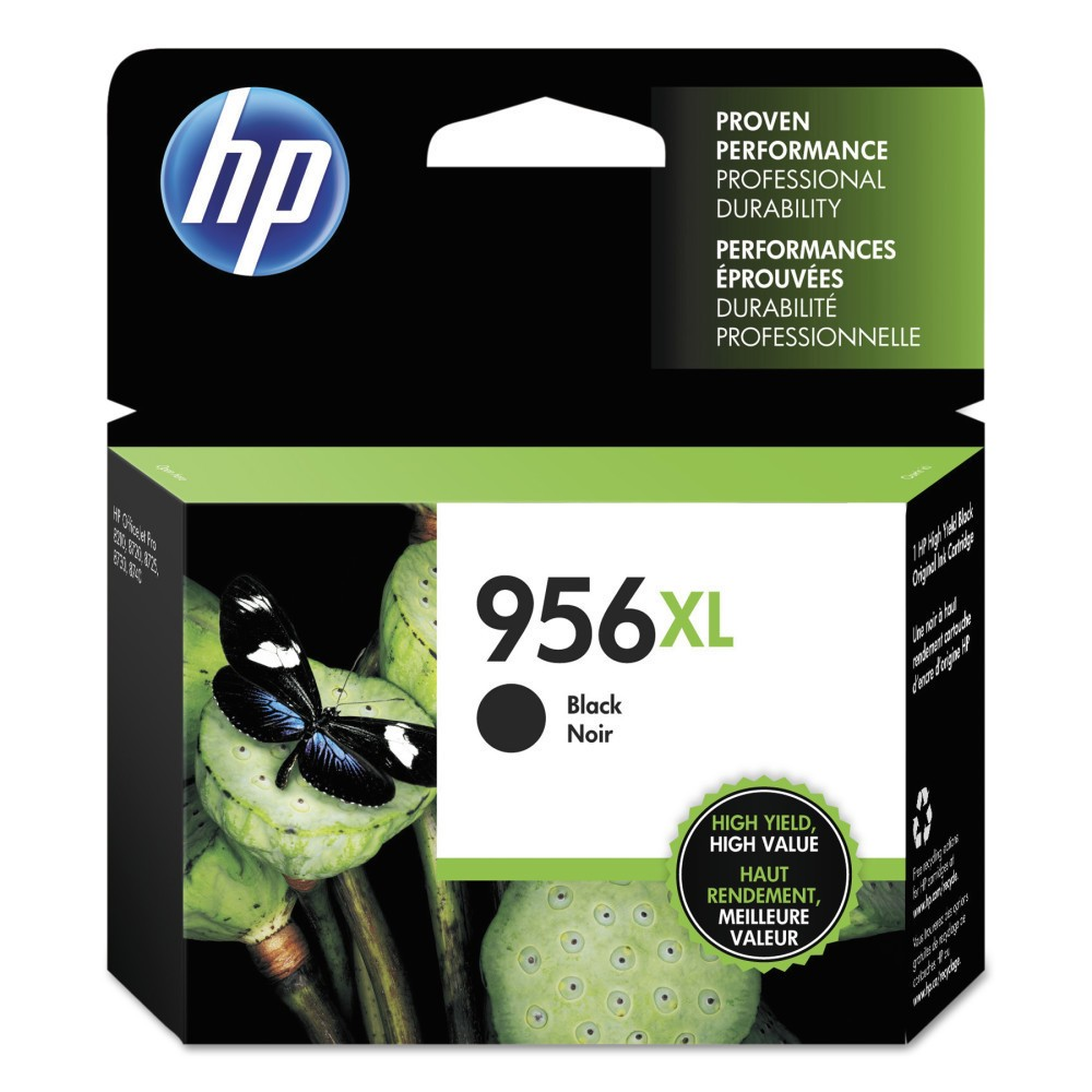 HP 956XL High Yield Original Single Ink Cartridge - Black (HEWL0R39AN) See accurate, professional results. Intelligence built into Original HP ink cartridges and printer continuously optimizes quality. Device Types: Inkjet Printer; Color(s): Black; Page-Yield: 3000; Supply Type: Ink.
