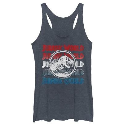 Women's Jurassic World: Fallen Kingdom 4th of July Logo Racerback Tank Top