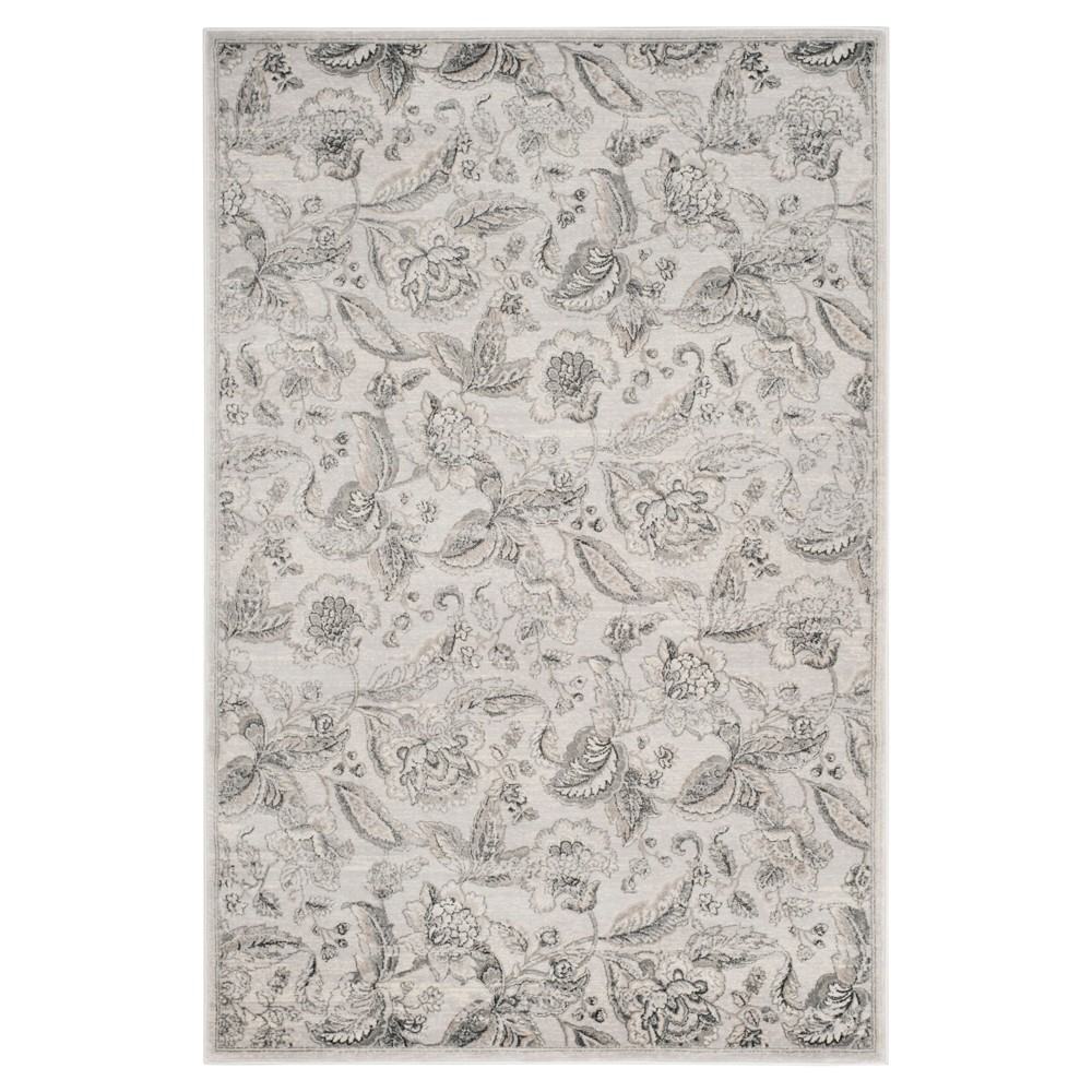 Silver Floral Loomed Accent Rug 3 X5 Safavieh