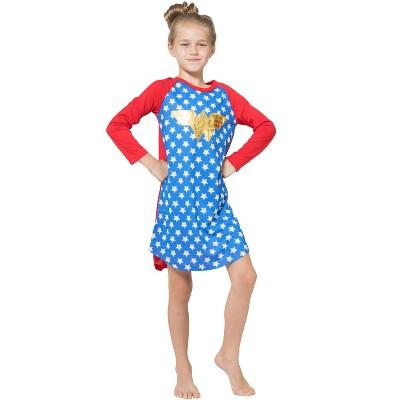 Wonder Woman DC Comics Logo Ragalan Pajama Nightgown