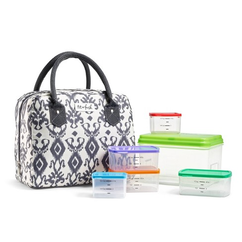 Fit & Fresh Bloomington Lunch Tote - Charcoal Ikat - image 1 of 4