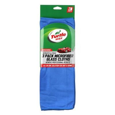 Turtle Wax 3pk Microfiber Glass Towels