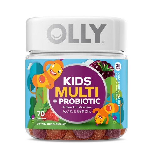 Olly Kids Multi + Probiotic Vitamin Gummies - Yum Berry Punch - 70ct - image 1 of 4