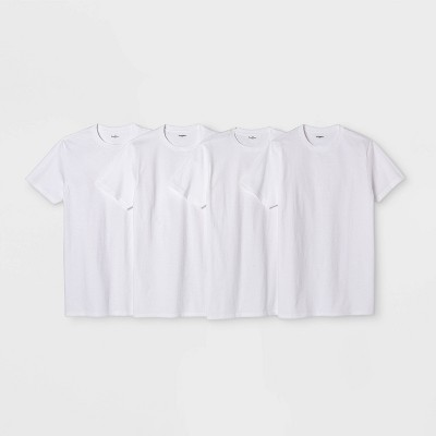 Men's Short Sleeve 4pk Crew-Neck T-Shirt - Goodfellow & Co™ White