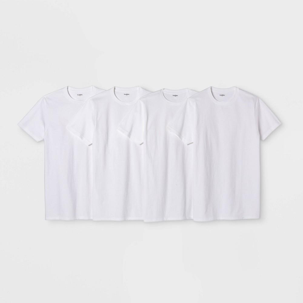 Men 39 S Short Sleeve 4pk Crew Neck T Shirt Goodfellow 38 Co 8482 White 2xl