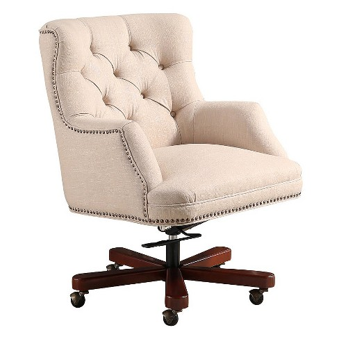 Alton Office Chair - Cream - Abbyson - image 1 of 6