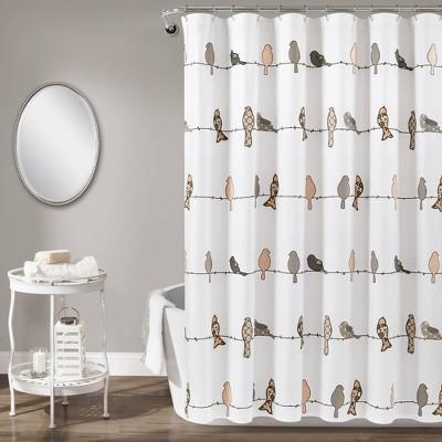 Rowley Birds Shower Curtain - Lush Décor