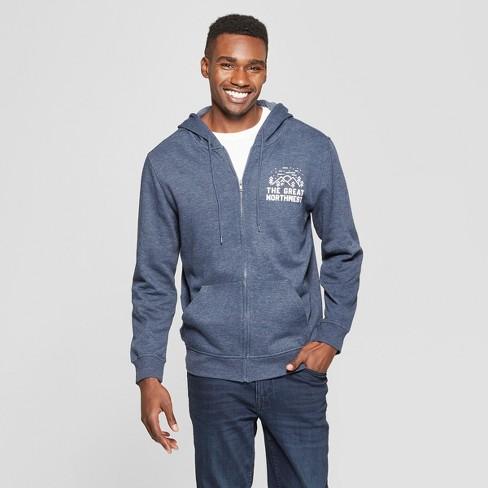 Men's Great Northwest Long Sleeve Full Zip Hooded Sweatshirt - Awake Deep Navy - image 1 of 2