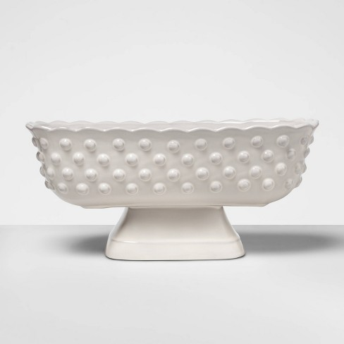 """6.2"""" x 5.3"""" Hobnail Terracotta Footed Bowl White - Opalhouse™ - image 1 of 2"""