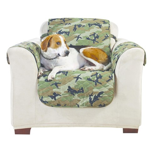 Green Camouflage Chair Furniture Cover