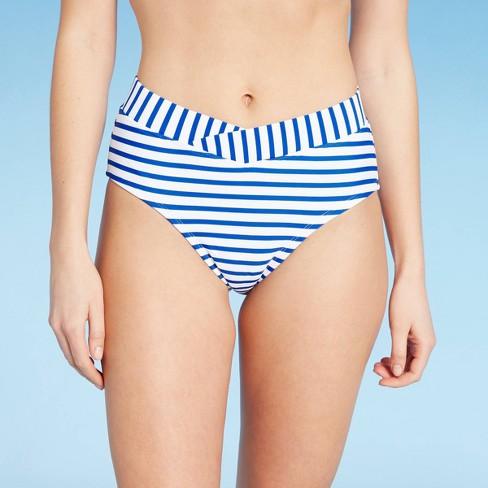 Women's Medium Coverage High Waist Bikini Bottom - Kona Sol™ Blue - image 1 of 4