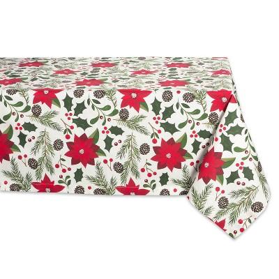 104 x60  Woodland Christmas Tablecloth - Design Imports