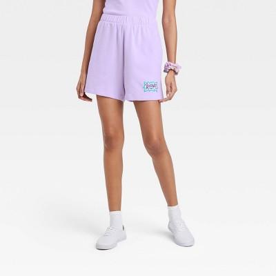 Women's Rugrats Susie Graphic Jogger Shorts - Purple