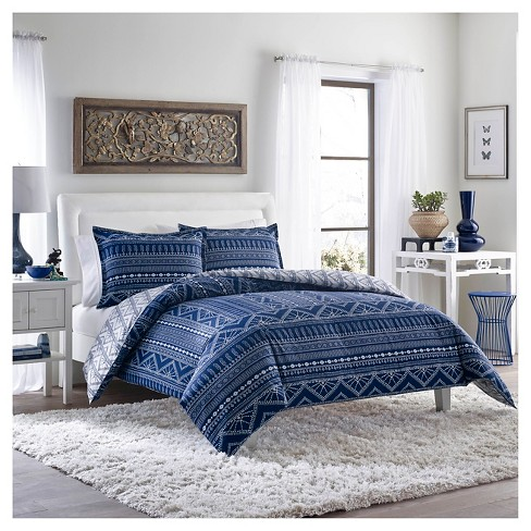 Pippa Duvet Cover And Sham Set Indigo - Poppy &Fritz® - image 1 of 3