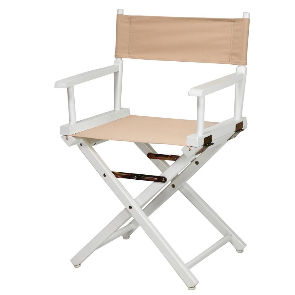 Tan White Frame Director 39 S Chair