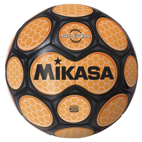Mikasa Aura Model Soccer Ball, Size 5, Black and Neon Orange - image 1 of 1