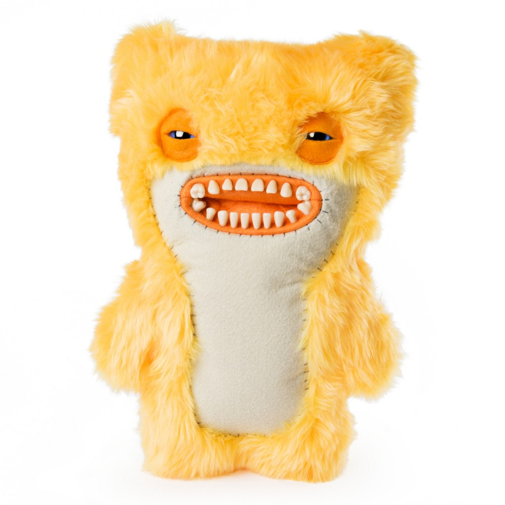 """Image of """"Fuggler Funny Ugly Monster 12"""""""" Awkward Bear Deluxe Plush Creature with Teeth - Orange"""""""
