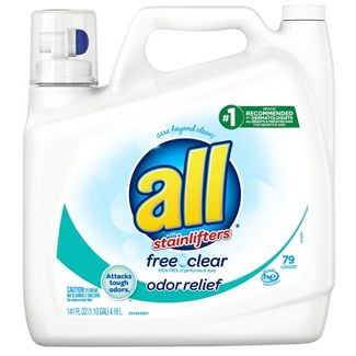 All Ultra Free Clear Odor Relief HE Liquid Laundry Detergent 141oz - 79 loads