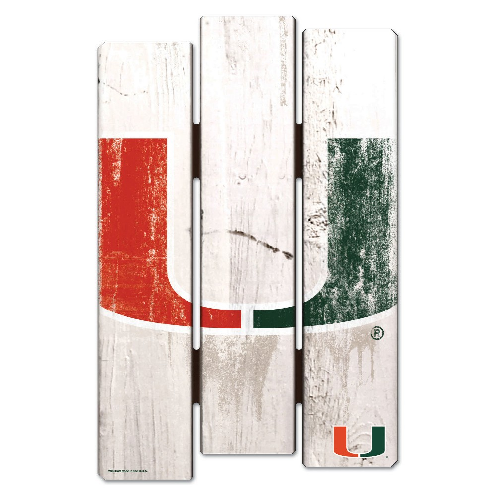 NCAA Miami Hurricanes Fence Wall Sign