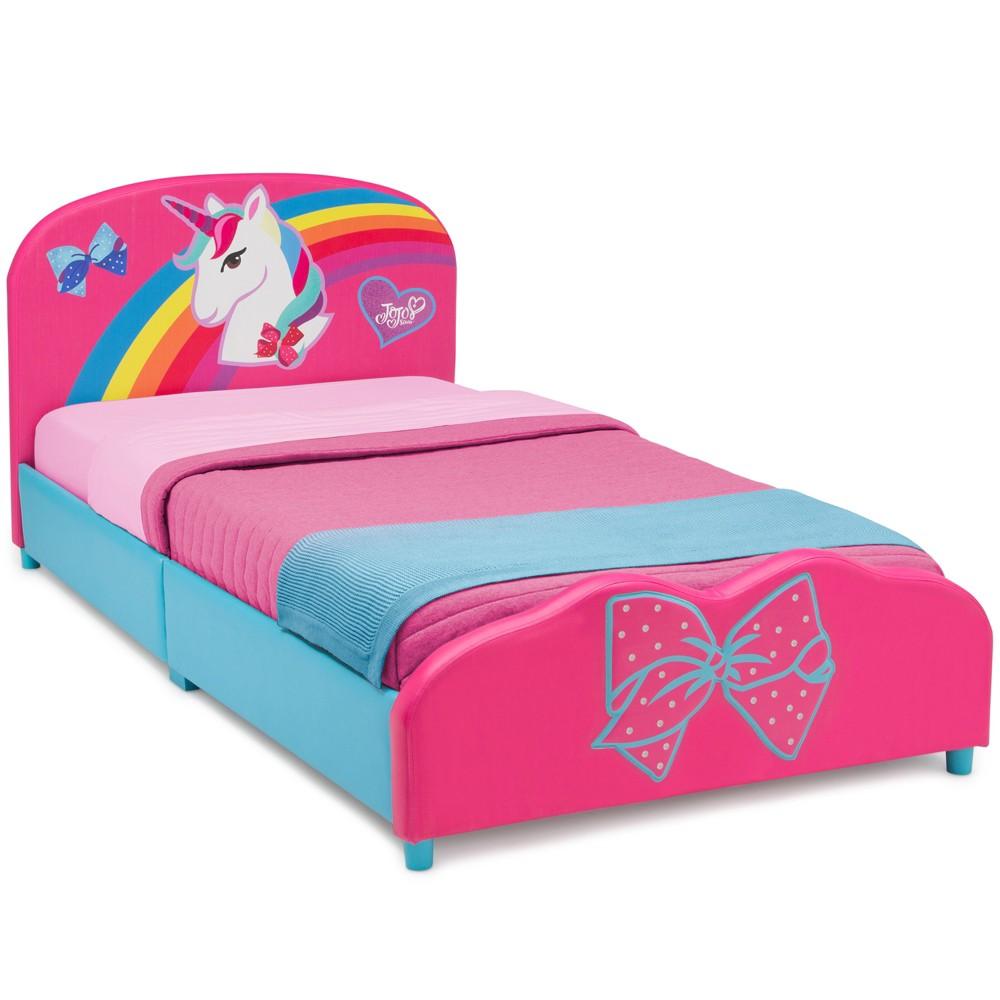 JoJo Siwa Upholstered Twin Bed - Delta Children, Multi-Colored
