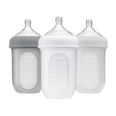Boon NURSH 8oz Bottle - Gray 3pk